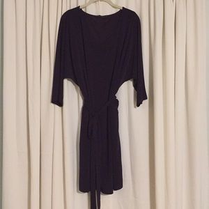 The Limited - deep purple dress with tie/sash
